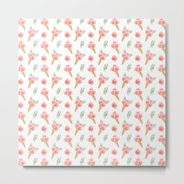 Floral Chill Rose Pattern Metal Print