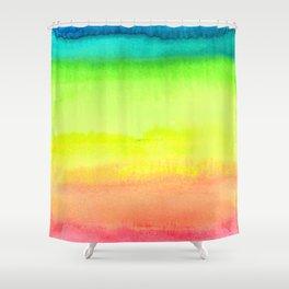 Rainbow Gradient Madness Watercolor by Imaginarium Creative Studios Shower Curtain