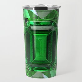 EMERALD GREEN MAY BIRTHSTONES ART Travel Mug
