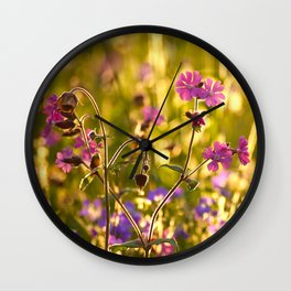 Summer Dream Wildflowers Meadow #decor #society6 Wall Clock