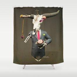 SKULL BULL Shower Curtain