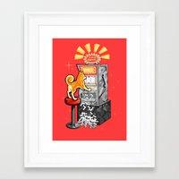 shiba Framed Art Prints featuring Shiba Slots by  terrorbunnystudios