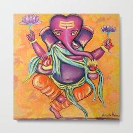 Popcorn Ganesha Metal Print