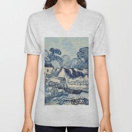 "Vincent van Gogh ""Landscape with Houses"" Unisex V-Neck"