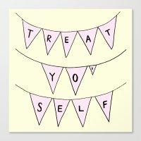 treat yo self Canvas Prints featuring Treat Yo' Self by Scout Garbaczewski