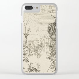 Half-length-of-a-man-in-a-landscape by George Manson Clear iPhone Case