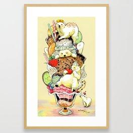 Polar Bear Sundae Dream Framed Art Print