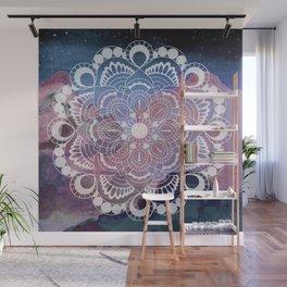 Night Clouds Watercolor Mandala Celestial Meditation Charm Wall Mural