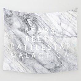 Bears Beets Battlestar Galactica (Marble) Wall Tapestry