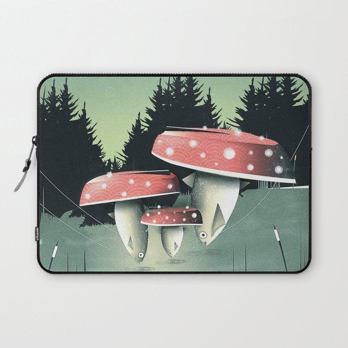 Fishing for Mushrooms Laptop Sleeve
