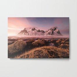 Iceland Mountains Landscape Photo Metal Print