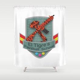 El Tigre's Paintball School Shower Curtain