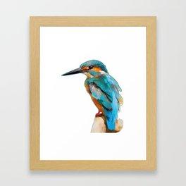 martin the fisher Framed Art Print