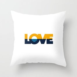 LOVE - People's Flag of Milwaukee Throw Pillow