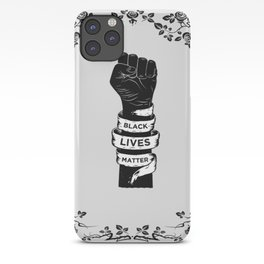 Black Lives Matter Power Fist Frame iPhone Case