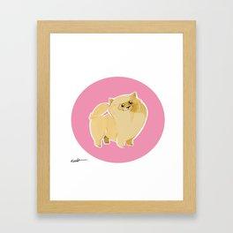 Pom Puff Framed Art Print