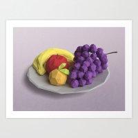 fruit Art Prints featuring Fruit by CharismArt