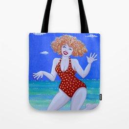 Frolicking at the seaside Tote Bag