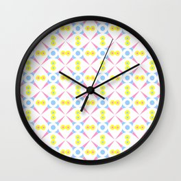 Symmetric patterns 140 Pink and blue Wall Clock