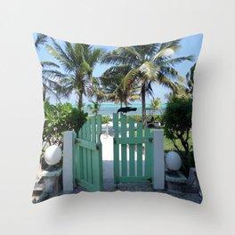 Gateway to Paradise #paradise #vaca  Throw Pillow