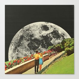 Moonwalk love Canvas Print