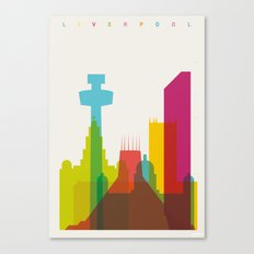 Shapes of Liverpool. Accurate to scale. Canvas Print