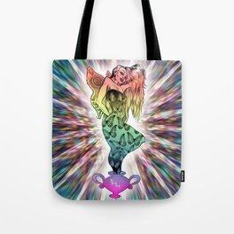 Rainbow Unicorn Nymph Tote Bag