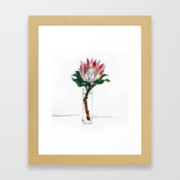 Day 71 - King Protea Framed Art Print
