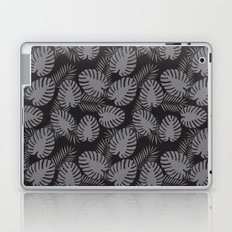 Tropical Print Grey & Black Laptop & iPad Skin
