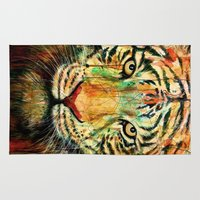 tiger Area & Throw Rugs featuring Tiger by nicebleed