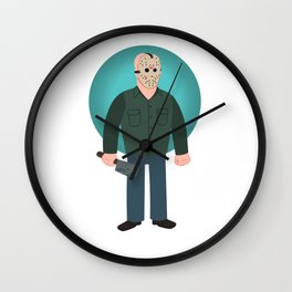 Jason Voorhees Friday the 13th Part 3 Wall Clock