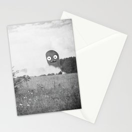 the passer-by saw only a wisp of smoke Stationery Cards