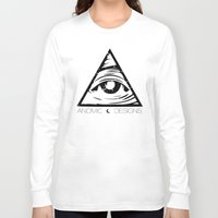 all seeing eye Long Sleeve T-shirts featuring ALL SEEING EYE  by ANOMIC DESIGNS