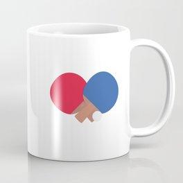 table tennis bat and ball Coffee Mug