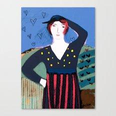The Girl's Got Attitude Canvas Print