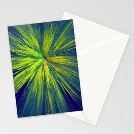 Green yellow splash Stationery Cards