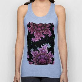 Magical fantasy patterns in purple, pink and green Unisex Tank Top