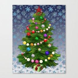 Christmas tree & snow v.2 Canvas Print