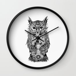The Owl's Time Wall Clock
