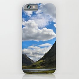 Highland Blue and Green iPhone Case
