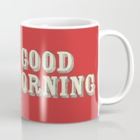 good morning Mugs featuring Good Morning by Eric Fan