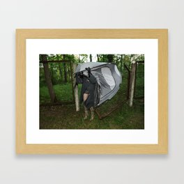 It's a Matter of Fact that it Always Rains on Tents Framed Art Print