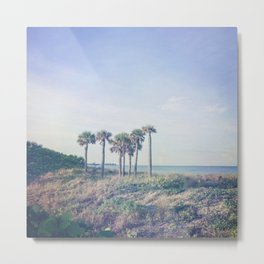 Seven Palm Trees Metal Print