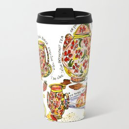Don't make me drink plain tea! Travel Mug