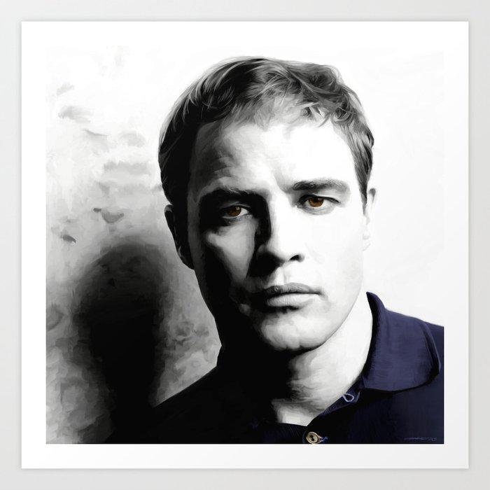 Marlon Brando Portrait #1 Art Print