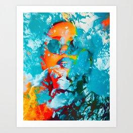 Sana, the colorful woman Art Print