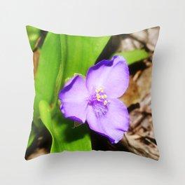 Spiderwort 1 Throw Pillow