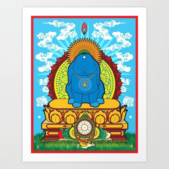 BUDDHA BUN Art Print