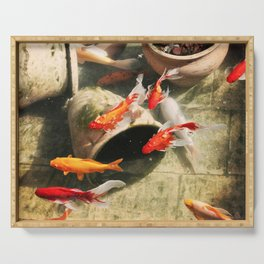 Koi Pond Serving Tray