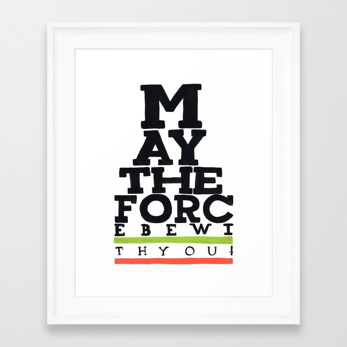 May the Force be with You - Star Wars Eye chart style Movie Poster ...